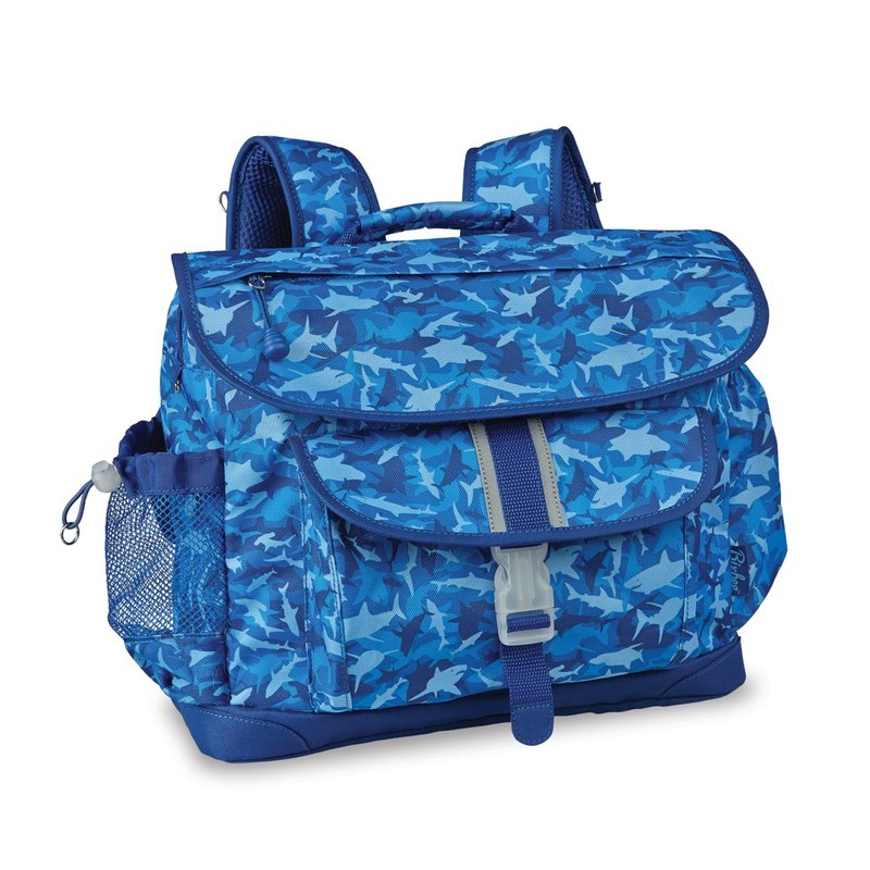 "Bixbee ""Shark Camo"" Kids Backpack - Blue"