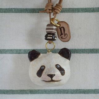 panda paper mache necklace