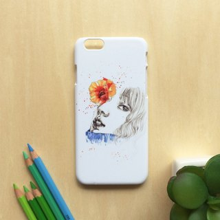 Flower in her eyes. Matte Case( iPhone, HTC, Samsung, Sony, LG, OPPO)