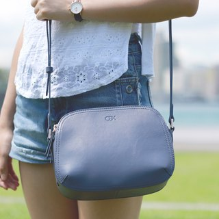 OBX Rounded shoulder bag, Grey blue
