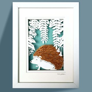 3D Layered Paper Cutting Animal Series - Porcupine