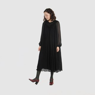 [Egg Plant Vintage] Shadow Girl Loose Umbrella Vintage Dress