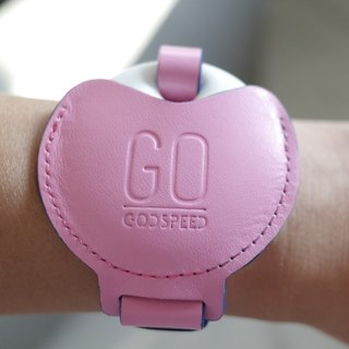 GOstrap- cherry pink -GOGORO key leather bracelet