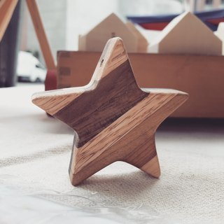 【Original. Wood】 double-sided fight wood _ lucky star