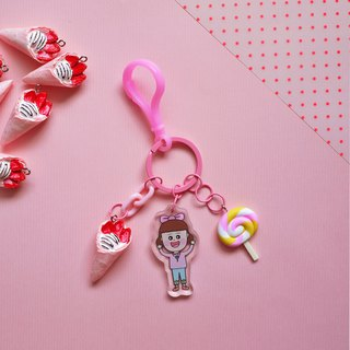 Pink // Dream Fructose - Fructose Handmade Charm / Key Ring