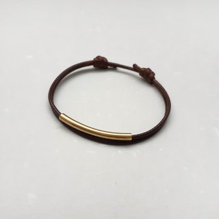 Wax line bracelet brass tube plain plain simple wax rope thick rope