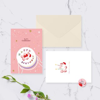 Birthday Card Set - Happy Birthday/Cake Must Have This Flavor/Cheese Cake