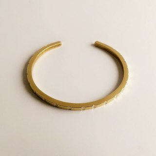 [Original color] Hand-made brass rule bracelet