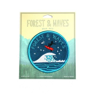 Forest & Waves Embroidery / night rush