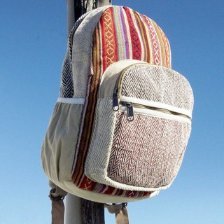Valentine's Day gift Mother's Day gift limited a piece of cotton stitching design backpack / shoulder bag / mountaineering bag / patchwork bag / cotton backpack / bag - Boho Moroccan desert national wind folk style (small)