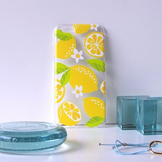 Clear iPhone case - Lemon -