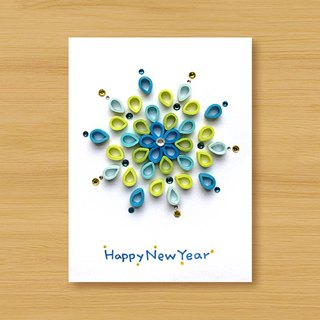 Handmade Roll Paper Card _ Splendid Sparks New Year... New Year Greeting Card, Thank You Card, Universal Card