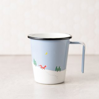 Lit Christmas I wish raccoon enamel cup -250ml