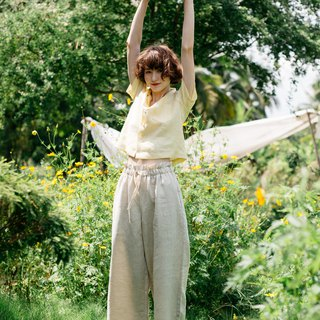 Linen Easy pants in Natural