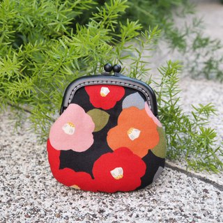 Japanese wooden pile flower # change purse # small gold package # classic