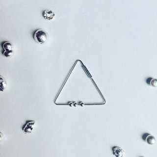 triangle 3 tiny ball .925 silver earrings_single earring for sale