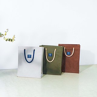 Canvas bag like paper bag _ Washed ash (S)