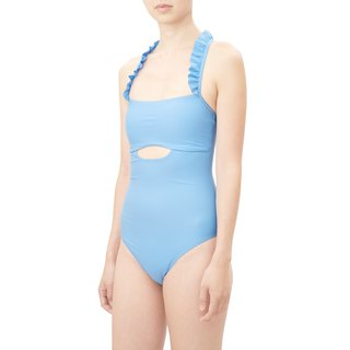 PENELOPE Ruffle straps one piece women sculpture swimwear