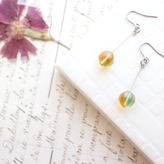Sweet orange-Brass earrings