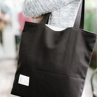 Natural shoulder bag mysterious black