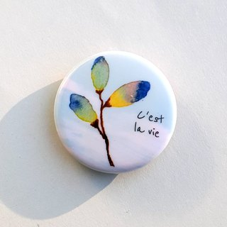 Cest la vie harvest badge pins