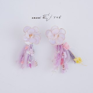 Kingiyo Hanabi - Hand Made Tassel Earrings (Candy Yellow)