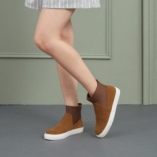 [Strolling the rainy season] 3M waterproof cowhine stitching Lycra casual booties _ mustard lazy