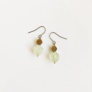 Sweet natural stone brass earrings