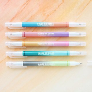Livework- Rainbow Ball Pen-10 color thickness double head ball pen group (5 into) - Rainbow, LWK51011