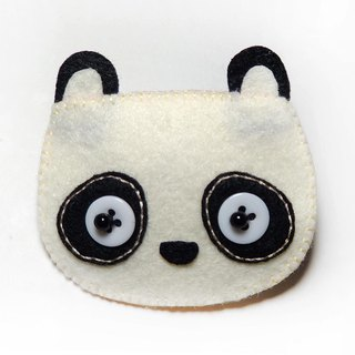 Hairpin - Panda Bear Julie Handmade