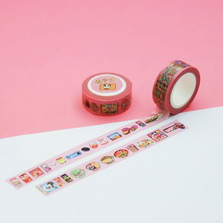 Snacks illustration / 15mm paper tape