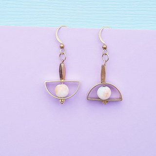 <Full Moon Party-春潮Party> Brass earrings minimalist geometric personality Valentine&#39;s Day