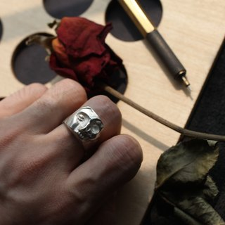 Half of the body of the silver ring