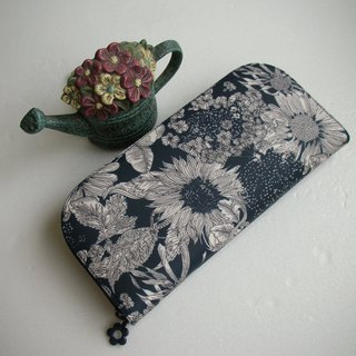 "Classic LIBERTY ""elegant flowers"" tarpaulin - long clip / wallet / purse / gift"