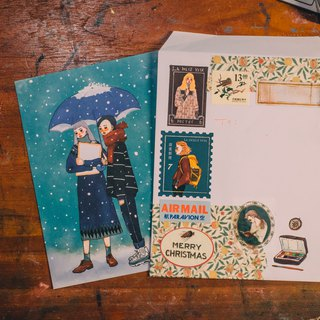 Snow Song A6 Card / Envelope Group