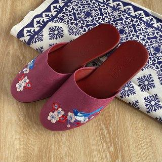 Indoor shoes: Magpie (purplish red)