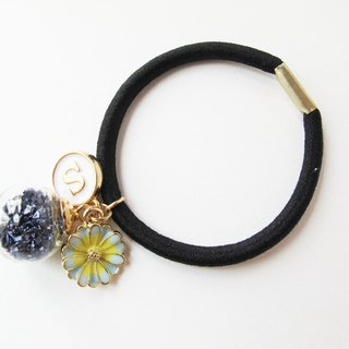 *Rosy Garden*Navy blue planet pieces with custom made english letter hair band