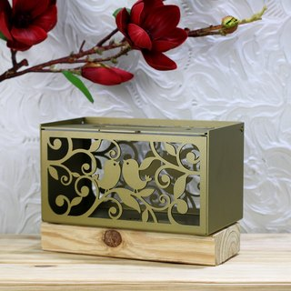 [] OPUS East Champs birds build neat metalworking - metal craft tissue box (gold bronze) / Hotel restaurant decoration design inn / texture furnishings / home decor / wedding gift / gifts into the house TI - bd04 (G)