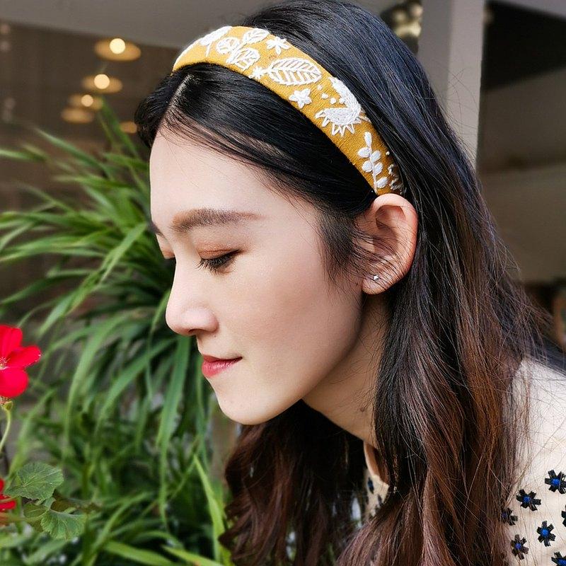 ins少女風刺繡頭箍 快手簡單易上手 花朵刺繡 手工材料包 自繡