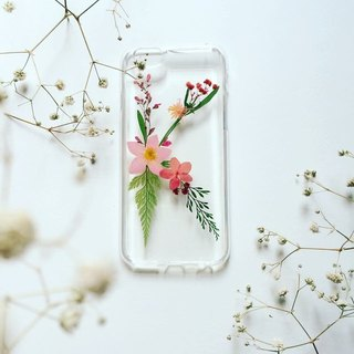 K for Katherine::pressed flower phonecase with initial design