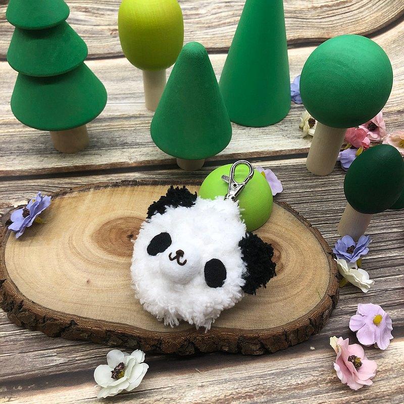 熊貓-gogoro鑰匙套 電動機車鑰匙套 鑰匙包 毛線編織鑰匙圈