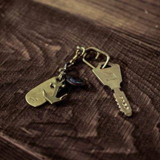 HEYOU Handmade – Solid Brass Key Chain - Brass Sea Anchor Keyring