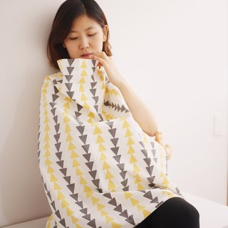 Korea Kangaruru multifunctional breastfeeding towel [Nordic Triangle] (with exclusive storage bag)
