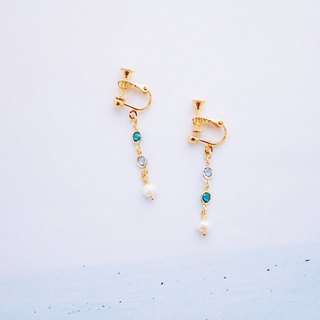 Neon - Earrings - Blue Swarovski pearl earrings