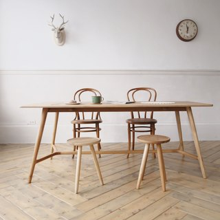 Everyone to 喟 coffee (foot) handmade oak dining table (180X80) (size can be customized)