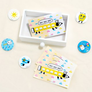 Pencil train dog ticket card / travel card sticker