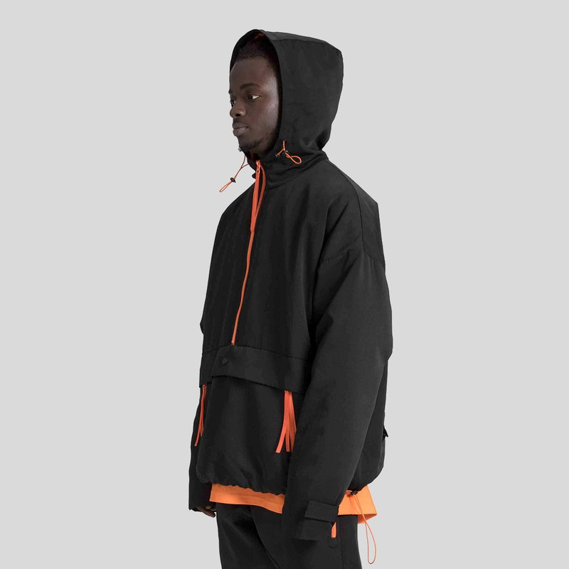[ionism] dismantling the windbreaker black orange