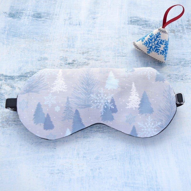 winter night/gray/ 眼罩/旅遊/睡眠/聖誕節