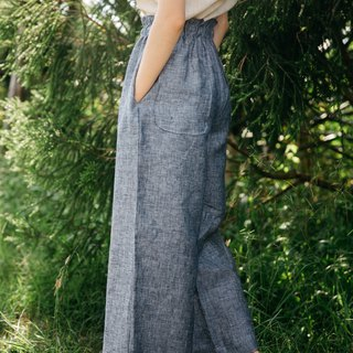 Linen Easy Pants in Navy Chambray