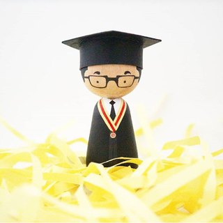 Wooden Doll Graduation